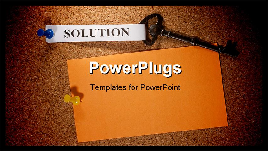 Bulletin Board Background Powerpoint Powerpoint template - key with