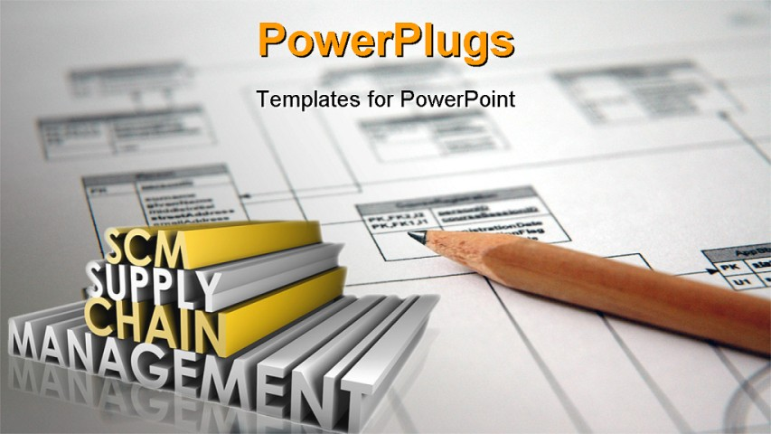 best powerpoint template supply chain management scm