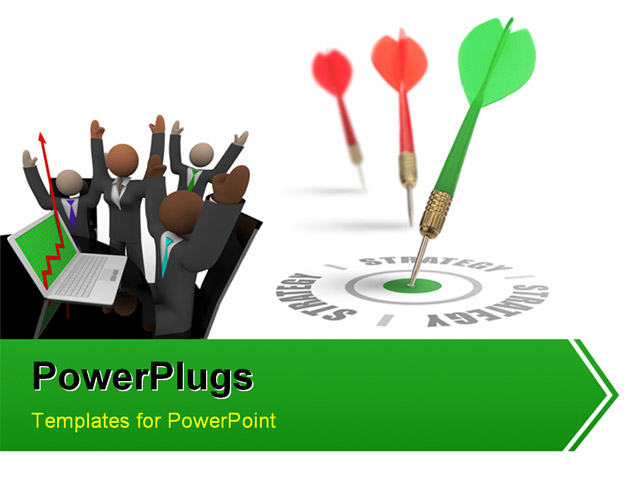 PowerPoint Template about business peoplemunication