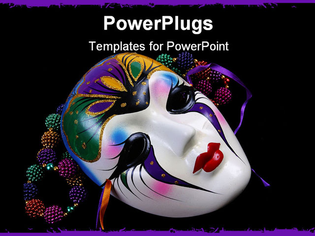 PowerPoint Template With Mask