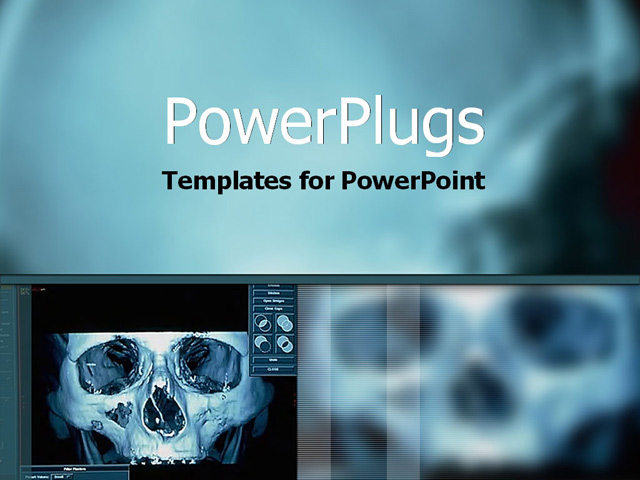hightech xray image on computer powerpoint template