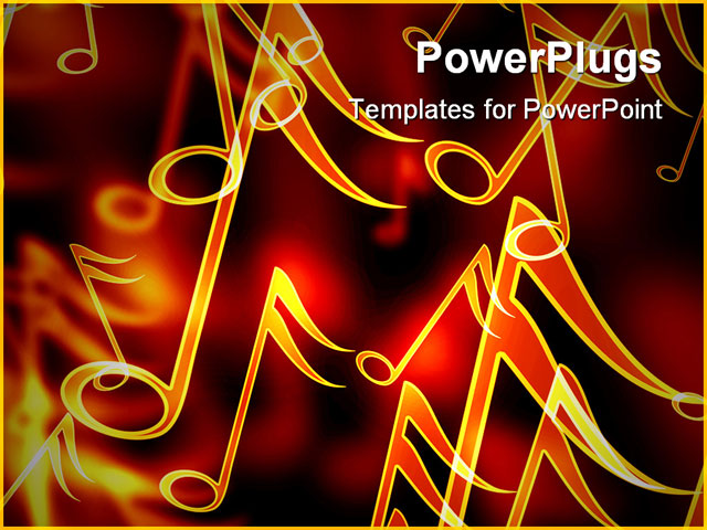 Colorful Musical Notes Black Background Colorful Music Notes on a