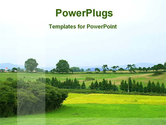 a landscape view of a hill station powerpoint template