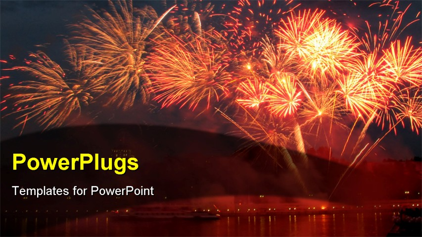Fireworks animation in powerpoint powerpoint template multicolored powerpoint template lots of sparkling bright fireworks on fireworks animation in powerpoint toneelgroepblik Image collections