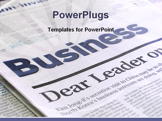 Newspaper Clipping Powerpoint Template Leoncapers