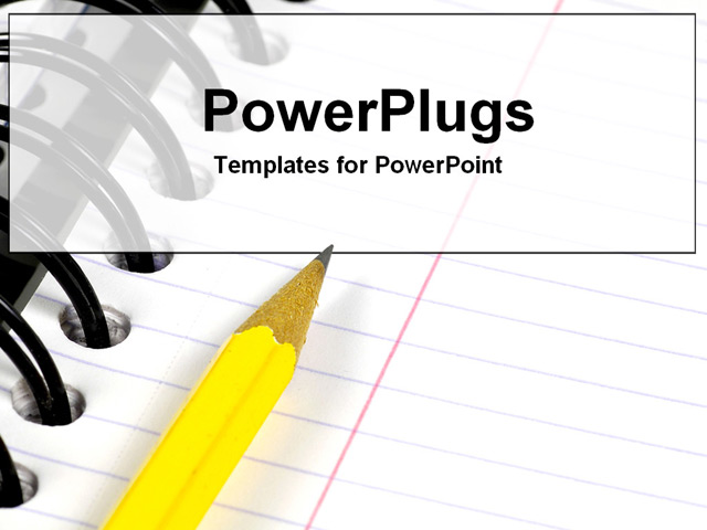 PowerPoint Template - Notebook421 - Title Slide