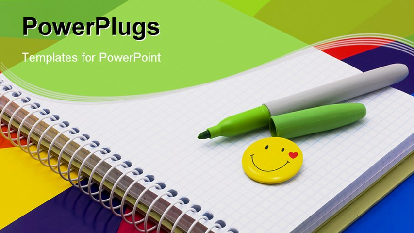 Notebook paper powerpoint template free toneelgroepblik Choice Image