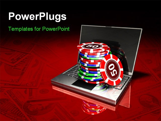 Powerpoint Template  A Collection Of Poker Chips With A