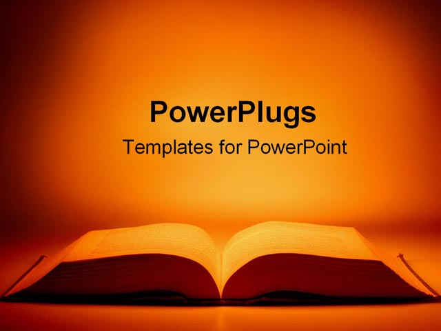 PowerPoint Template - open book - Title Slide
