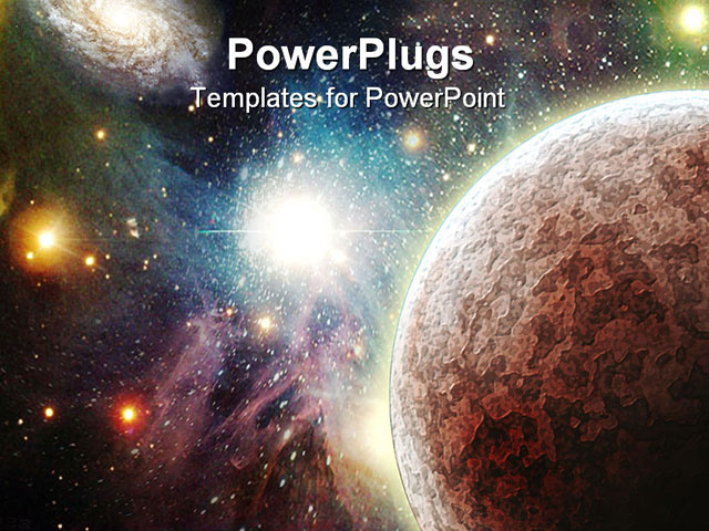 Images of galaxy space template spacehero powerpoint template view of the universe with planets toneelgroepblik