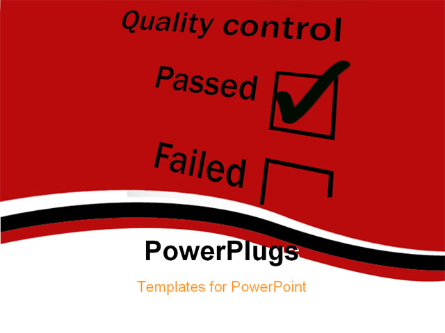 Quality powerpoint templates a man puts up bricks of quality quality control tickbox with passed ticked powerpoint quality powerpoint templates toneelgroepblik Image collections