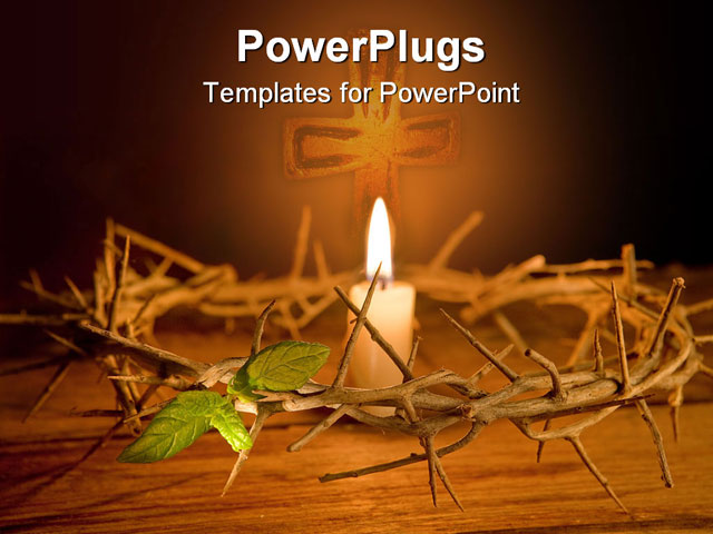 Candle Background Powerpoint Powerpoint Template Candle