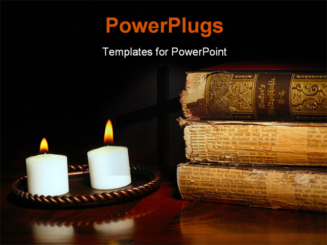 Candle Background Powerpoint Powerpoint Template Candles