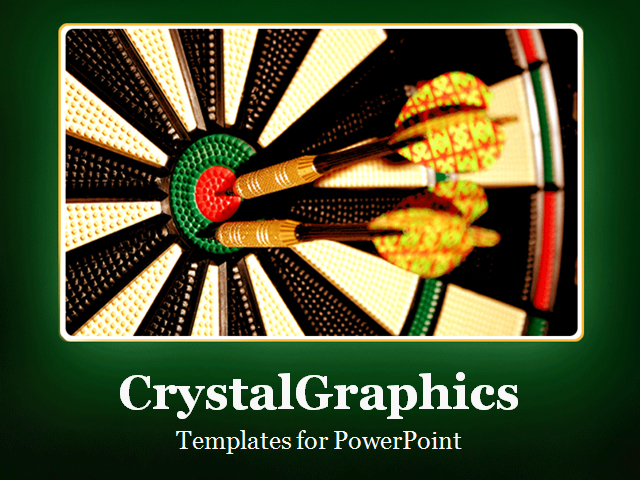 PowerPoint Template about target, aim, success