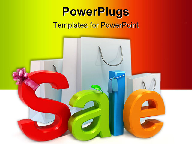 Template - Word sale with