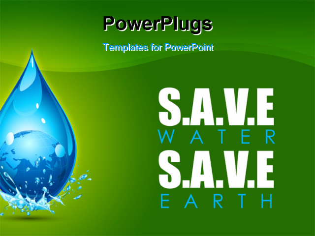Save water powerpoint presentation free illustration of earth in save water powerpoint presentation free illustration of earth in water drop showing save water toneelgroepblik Image collections