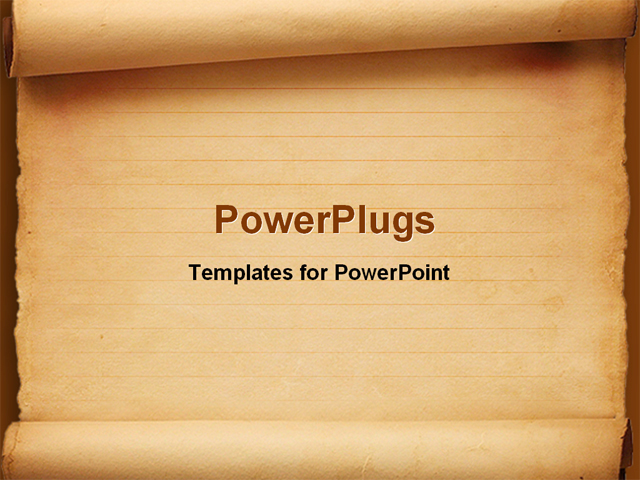 PowerPoint Template - scroll paper - Title Slide
