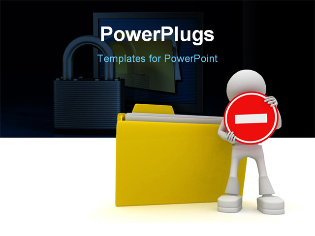 PowerPoint Template about �security, business, finance