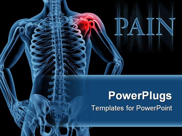 Shoulder Joint Anatomy Ppt 3d Render Of A Medical Skeleton With