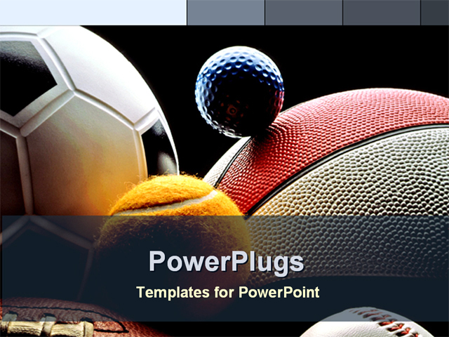 variety of balls powerpoint template background of sports game balls sp 1010. Black Bedroom Furniture Sets. Home Design Ideas