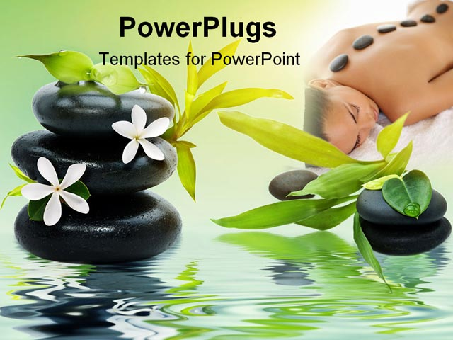 PowerPoint Template: spa theme with black relaxing spa ...