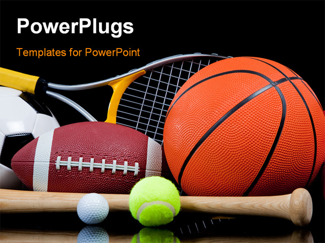 Sports powerpoint template free download universiade 2011 sports powerpoint template group of sports equipment on black sports powerpoint template toneelgroepblik Choice Image