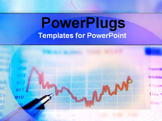 PowerPoint Template about stocks, finance, financial