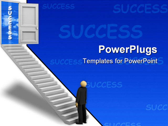 Powerpoint template a professional on the stairs towards for Professional looking powerpoint templates