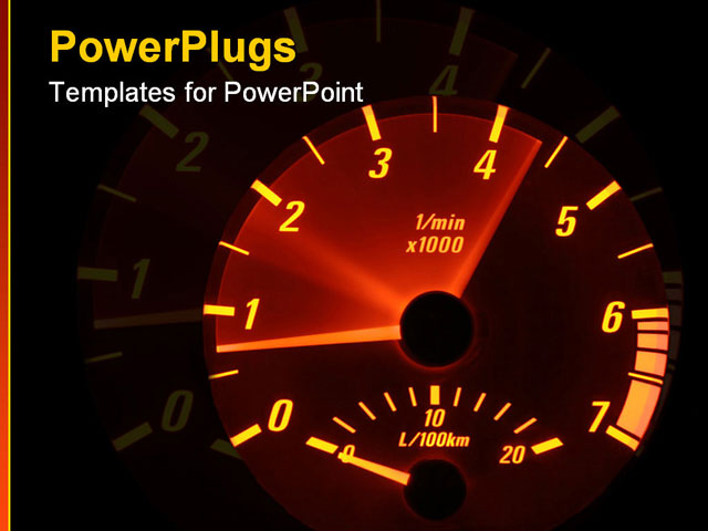 PowerPoint Template - tachometer - revving - Title Slide