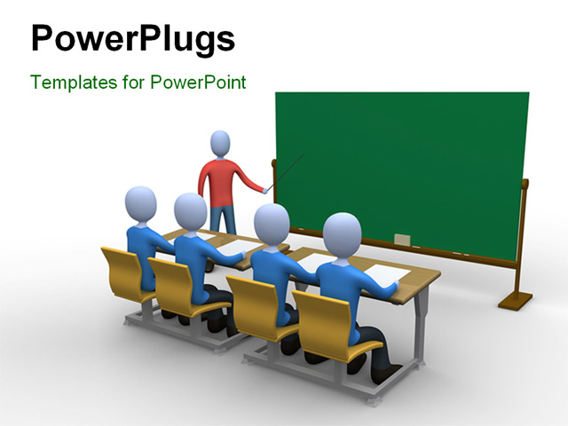 Classroom Design Powerpoint ~ Powerpoint template a teacher in the classroom during