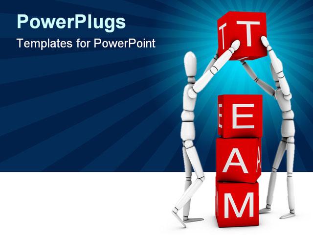 team building powerpoint presentation templates - teamwork team working together powerpoint template