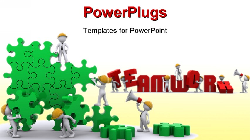 Team puzzle quotes quotesgram for Team building powerpoint presentation templates