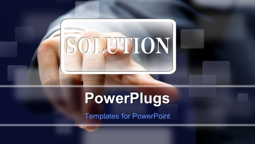 PowerPoint Template about computer, communication, business