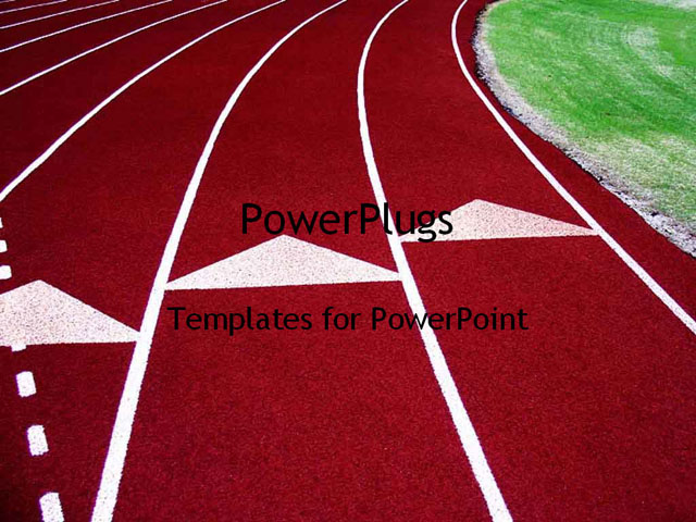 PowerPoint Template - Running Tracks - Title Slide