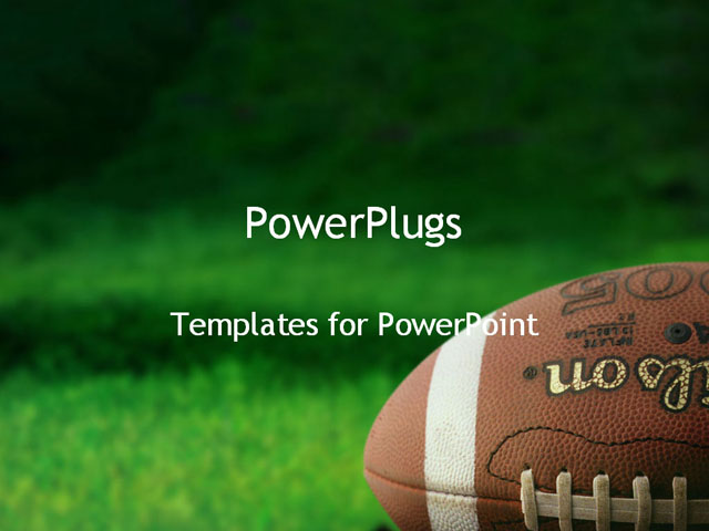 football on grass powerpoint template background of