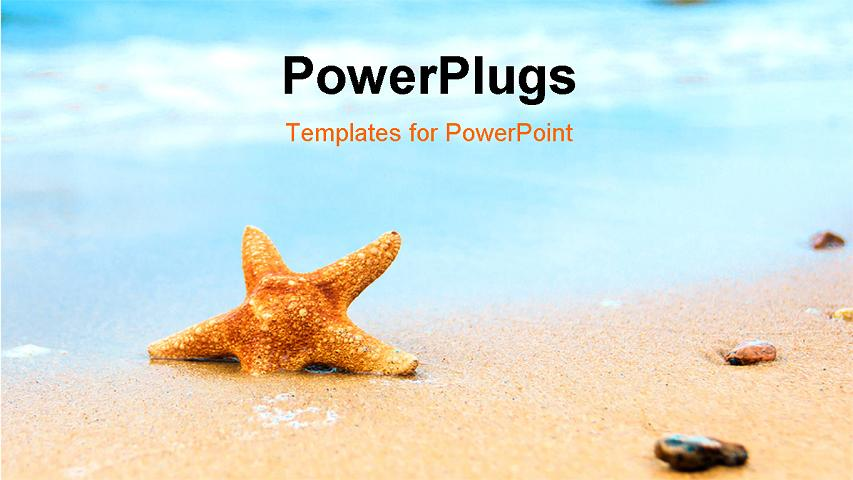 PowerPoint Template - Vacation Dream Shell - Title Slide