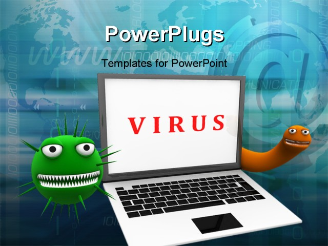Virus powerpoint template free green virus organism russian powerpoint template laptop with viruses around on a web virus powerpoint template free toneelgroepblik Images