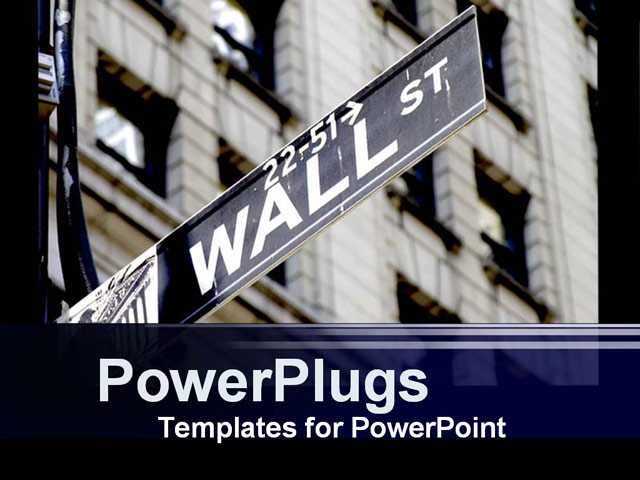PowerPoint Template about finance, finanacial, wallstreet