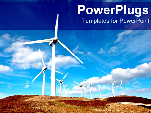 PowerPoint Template With Windmills