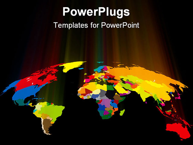 Different powerpoint templates free powerpoint templates powerpoint template world map showing countries in different powerpoint templates toneelgroepblik Images