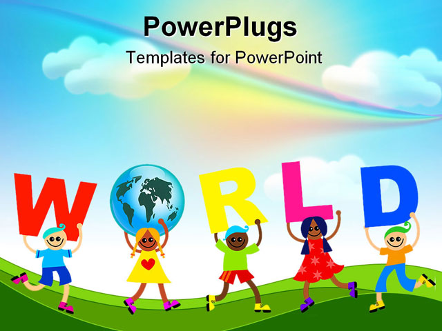 children backgrounds for powerpoint powerpoint template