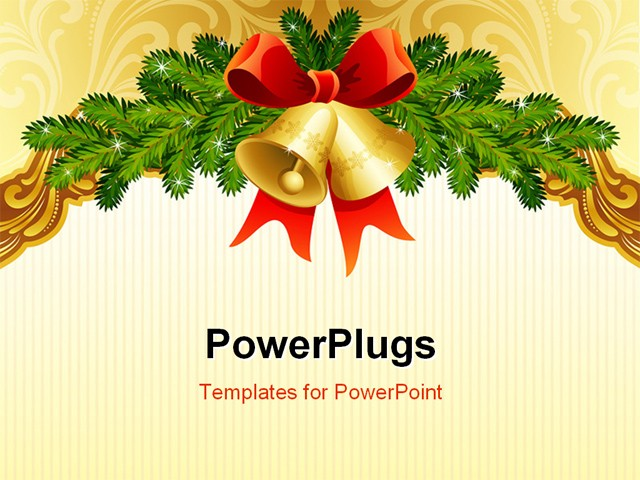 The Vector Illustrations Gold Ornate Christmas Background Powerpoint