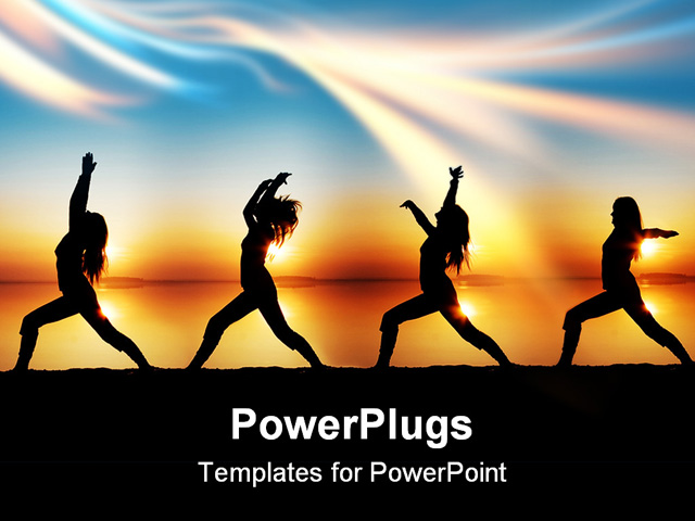 Images of yoga powerpoint template backgrounds sc powerpoint template a girl doing various form of toneelgroepblik Images